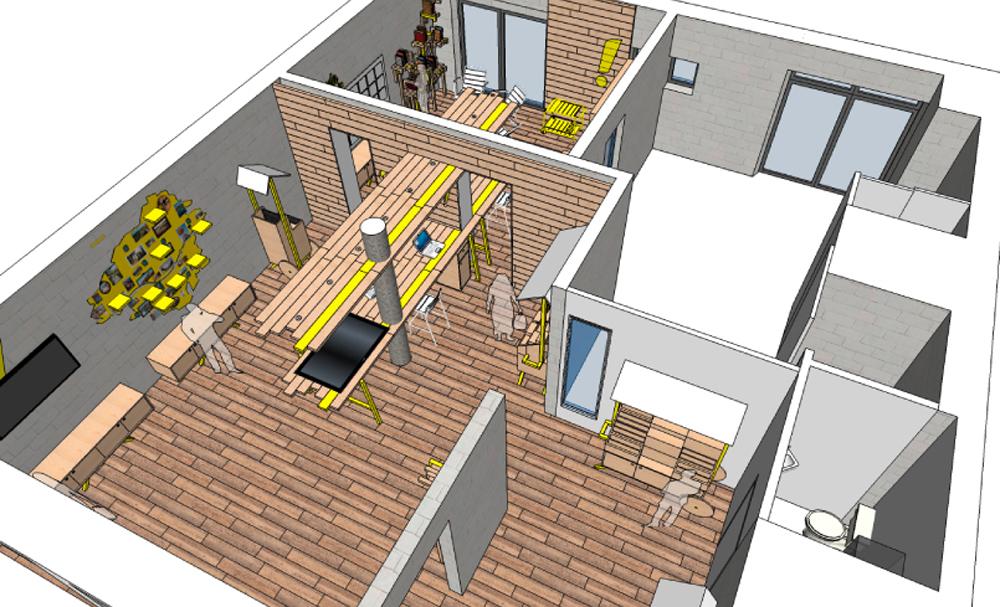 design du magasin oh la l a fabien denis. Black Bedroom Furniture Sets. Home Design Ideas