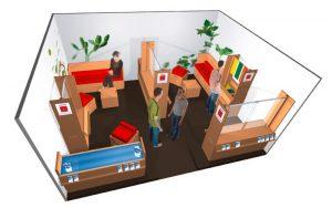 Conception de stand éco-conçu et développement durable pour l'ADEM