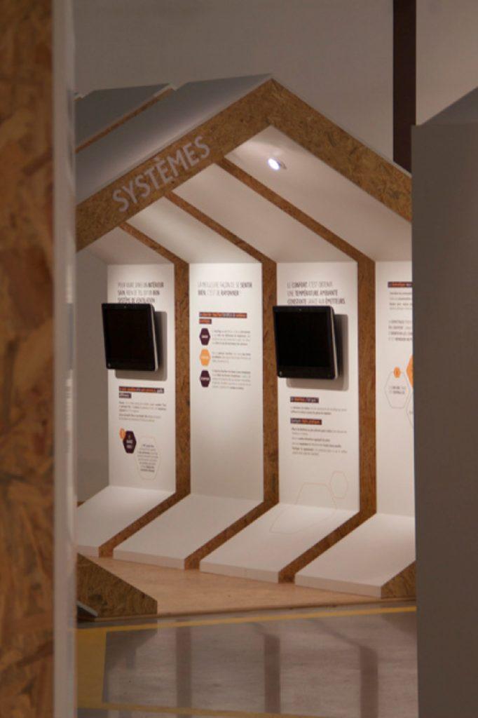 Design d'un showroom et création de maison de présentation de l'offre