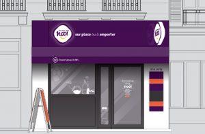 Création du concept Nooi, Conception et design de la façade de la franchise de restauration rapide Nook