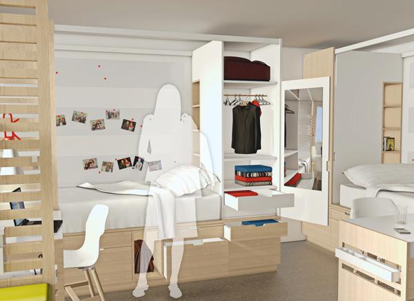 Internat design et cr ation fabien denis for Chambre dortoir design
