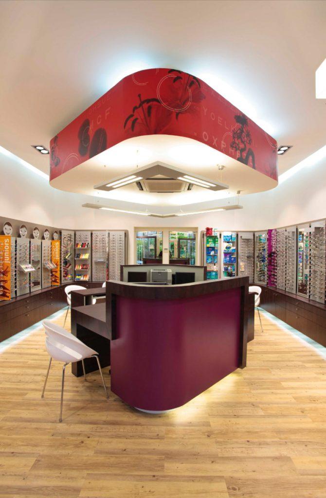 Création magasin, accueil et livraison d'une boutique de lunettes