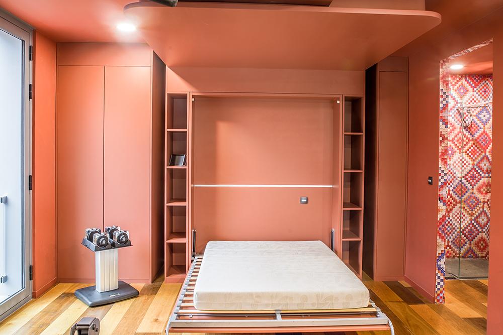 chambre d amis-brique-lit escamotable-alcove - Fabien DENIS