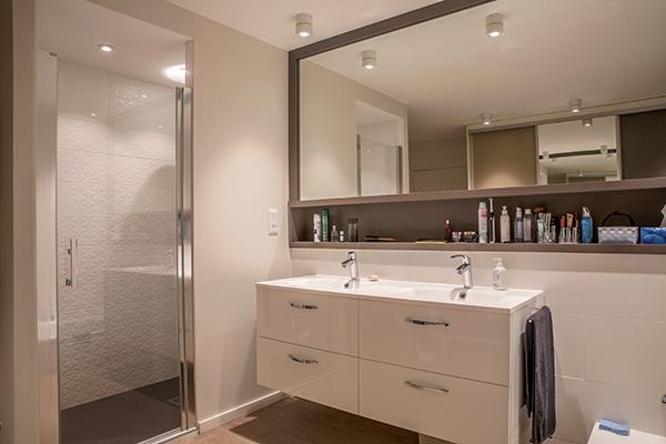 decoration architecture salle d eau vasque luminaire fabien denis. Black Bedroom Furniture Sets. Home Design Ideas